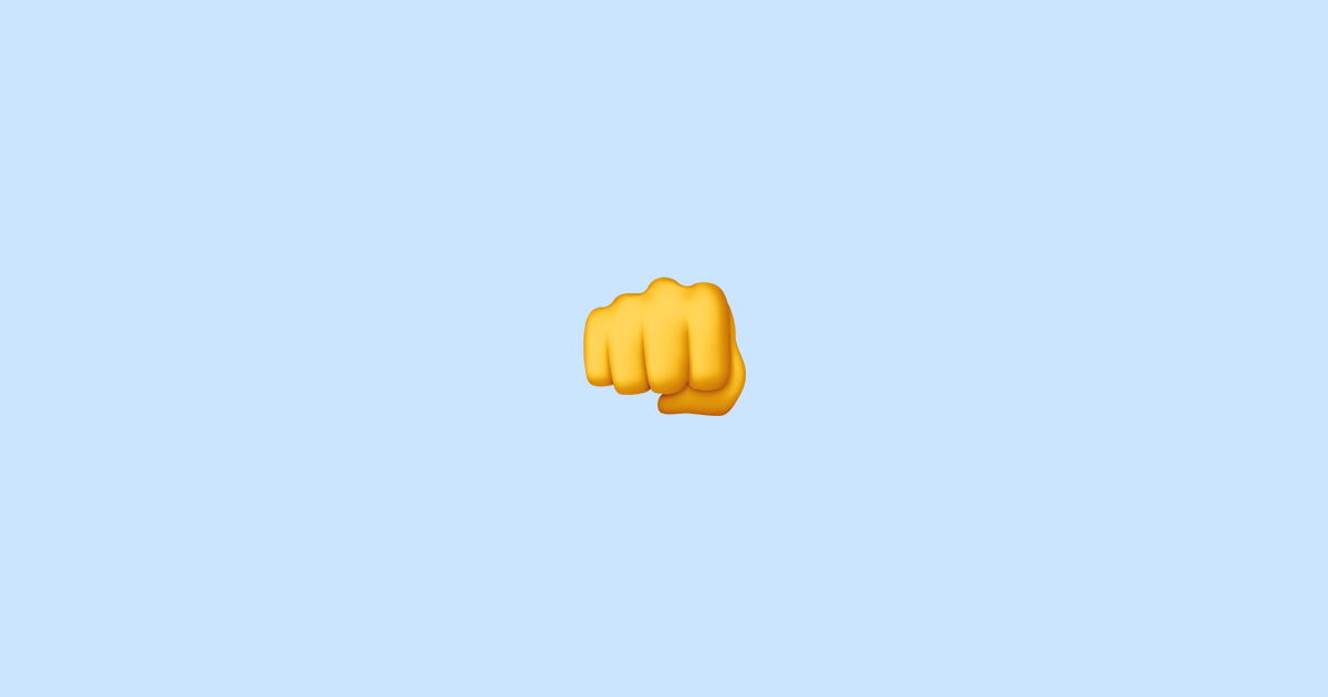 oncoming fist emoji meaning