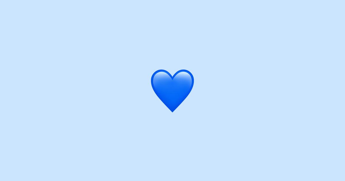 blått hjärta betyder
