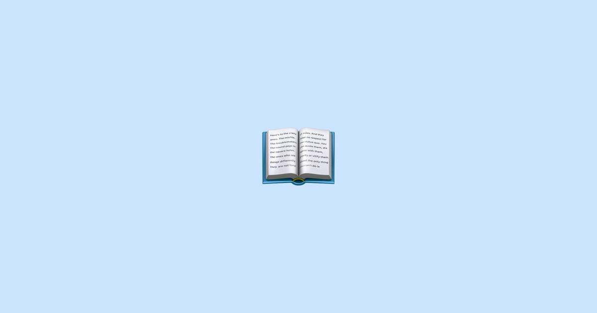 Livre Ouvert Emoji Signification