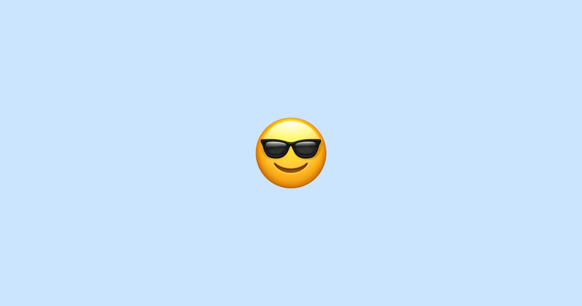 Smiley mit sonnenbrille bedeutung Zwinker Smiley