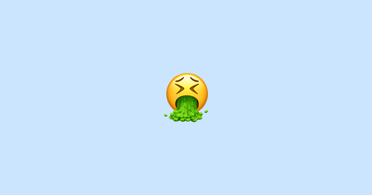 🤮 Face Vomiting - Emoji Meaning