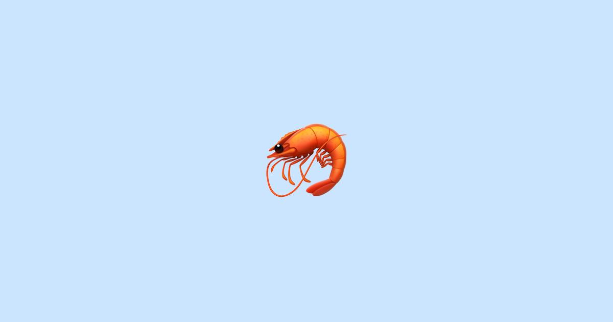 🦐 Shrimp - Emoji Meaning