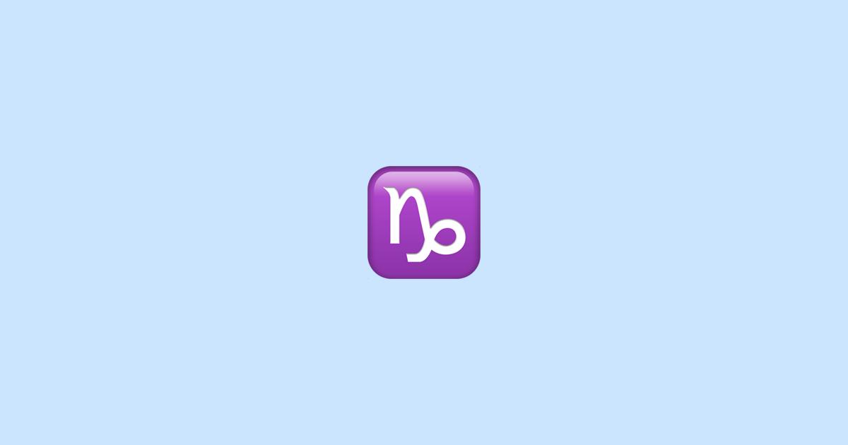 Capricorn Emoji Meaning