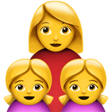 Family: Woman, Girl, Girl (Smileys & People - Family)