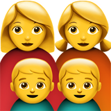 Family: Woman, Woman, Boy, Boy (Smileys & People - Family)
