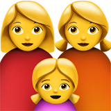 Family: Woman, Woman, Girl (Smileys & People - Family)