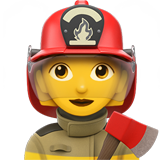 Woman Firefighter (Smileys & People - Person-Role)