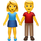 Man And Woman Holding Hands (Smileys & People - Family)