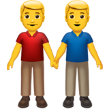 Two Men Holding Hands (Smileys & People - Family)