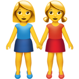 Two Women Holding Hands (Smileys & People - Family)