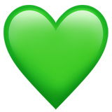 Green Heart (Smileys & People - Emotion)