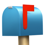 Closed Mailbox With Raised Flag (Objects - Mail)