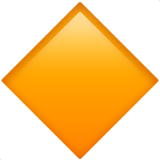 Large Orange Diamond (Symbols - Geometric)