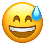 Grinning Face With Sweat (Smileys & People - Face-Positive)