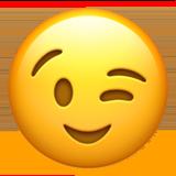 😉 blinkende ansigt - Emoji Betydning