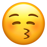 Kissing Face With Closed Eyes (Smileys & People - Face-Positive)