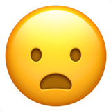 Frowning Face With Open Mouth (Smileys & People - Face-Negative)