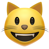 Grinning Cat Face (Smileys & People - Cat-Face)