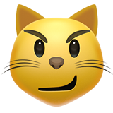 Cat Face With Wry Smile (Smileys & People - Cat-Face)
