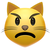 Pouting Cat Face (Smileys & People - Cat-Face)