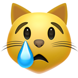 Crying Cat Face (Smileys & People - Cat-Face)