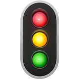 Vertical Traffic Light (Travel & Places - Transport-Ground)