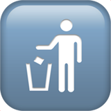 Litter In Bin Sign (Symbols - Transport-Sign)