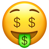 Money-Mouth Face (Smileys & People - Face-Neutral)