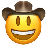 Cowboy Hat Face (Smileys & People - Face-Role)
