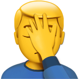 Person Facepalming (Smileys & People - Person-Gesture)