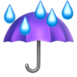 Umbrella With Rain Drops (Travel & Places - Sky & Weather)
