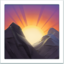 Sunrise Over Mountains Emoji (Apple)