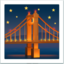 Bridge At Night Emoji (Apple)