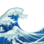 Water Wave Emoji (Apple)