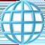 žemės rutulys su dienovidiniais Emoji (Apple)