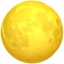Full Moon Emoji (Apple)