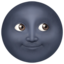 New Moon Face Emoji (Apple)