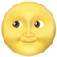 Full Moon Face Emoji (Apple)