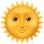 Sun With Face Emoji (Apple)
