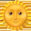 saulė su veidu Emoji (Apple)