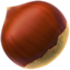 Chestnut Emoji (Apple)
