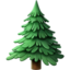 Evergreen Tree Emoji (Apple)