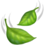 Leaf Fluttering In Wind Emoji (Apple)
