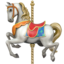 Carousel Horse Emoji (Apple)
