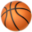Basketball Emoji (Apple)