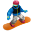 Snowboarder Emoji (Apple)