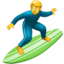 Person Surfing Emoji (Apple)