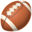 American Football Emoji (Apple)