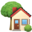 House With Garden Emoji (Apple)