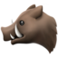 Boar Emoji (Apple)